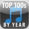 【Top 100s by Year】洋楽のヒット曲ベスト100が年代別で聴けるアプリ。