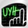 【手書きツール(UYH)】ネオンのような綺麗な文字が書ける♪スラスラ手書きでメモしたい時に使えるアプリ。無料!