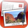 【Lifecards – Postcards】デザイン豊富!お洒落なテンプレートでハイクオリティなポストカードを作成できるアプリ。