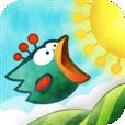 爽快感がクセになる! カラフルな丘を利用して飛べない鳥を空高く飛ばすゲーム【Tiny Wings】
