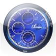 【D時計 クロノグラフ BLUE】デジタル時計とアナログ時計が融合したアプリ。アラームやタイマー、ストップウォッチも。