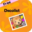 【DecolistFree – デコリスト(無料版)】無料で機能充実♪ 写真を可愛くデコれるアプリ。