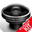 【魚眼レンズ キット】これは面白い♪ リアルタイムで「魚眼レンズ」をつけているような写真が撮影できるアプリ。