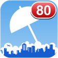 【降水確率】ホーム画面に降水確率を表示出来る、便利な天気予報アプリ。