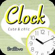 【ClockCc】キュート&シックなデザインが選べる、オシャレな着せ替え時計のアプリ。