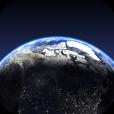 【Living Earth HD – World Clock and Weather】3Dの地球上でリアルタイムな雲の様子が見れる!美しい世界時計&天気予報アプリ。