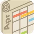 【くるまきカレンダー】スクロール方式で月末、月初も見やすい!色合いが綺麗なカレンダーアプリ。