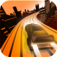 【ForeverDrive】鮮やかな近未来都市の中を延々と走っていく3Dレースゲーム。