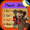 【CuttyCal】シンプルで可愛い月間日記アプリ。Googleカレンダーとの同期も可能♪