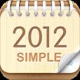 【卓上カレンダー2012:シンプルカレンダー】余計な機能は一切無し。壁紙にもできるシンプルなカレンダーのアプリ。