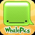 【I'm Whale】メッセージなどで活用できる新しいタイプの顔文字集アプリ。