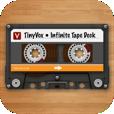 【TinyVox】カセットテープに録音するような感覚で使えるボイスレコーダー。共有機能が便利!