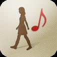 【walkiNavi】普段の移動をもっと楽しく♪ 音楽プレーヤー付き歩数計アプリ。