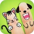 【FingerFace Zoo Edition】ユニークな指写真が作れるアプリ。日常の写真を可愛くデコレーションしよう♪