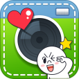 【LINE camera】大人気!LINEでおなじみキャラのスタンプも使える写真デコアプリ。