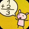 【うさこでんたく – ゆるふわキャラ電卓 -】うさぎのキャラクターが手書きで計算してくれる、和み系電卓アプリ。