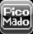 【PicoMado】レトロ感がたまらない!iPhone全体に8ビットゲーム機風のメッセージを流すアプリ。