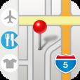 【ポケットマップ – 地図ブックマークのフォルダ管理】お店や営業先など、地図のブックマークをフォルダ分けして管理できる便利アプリ。