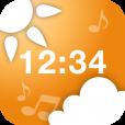 【お天気時計】音楽と声でその日の天気を教えてくれる、便利な目覚ましアプリ。
