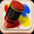 色の混ざり方が素晴らしい。 クレヨンの質感・描き味を再現したペイントアプリ【Crayon Style】