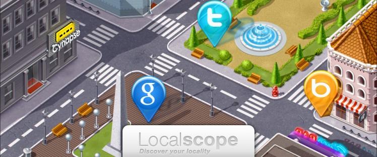 近くに何があるのかを知る最良の方法、それは「Localscope」を使うことかもしれない。
